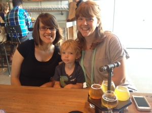 Amy, Krissi and the boy at Penrose Brewing