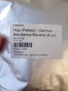 Mandarina Bavaria hop pellets