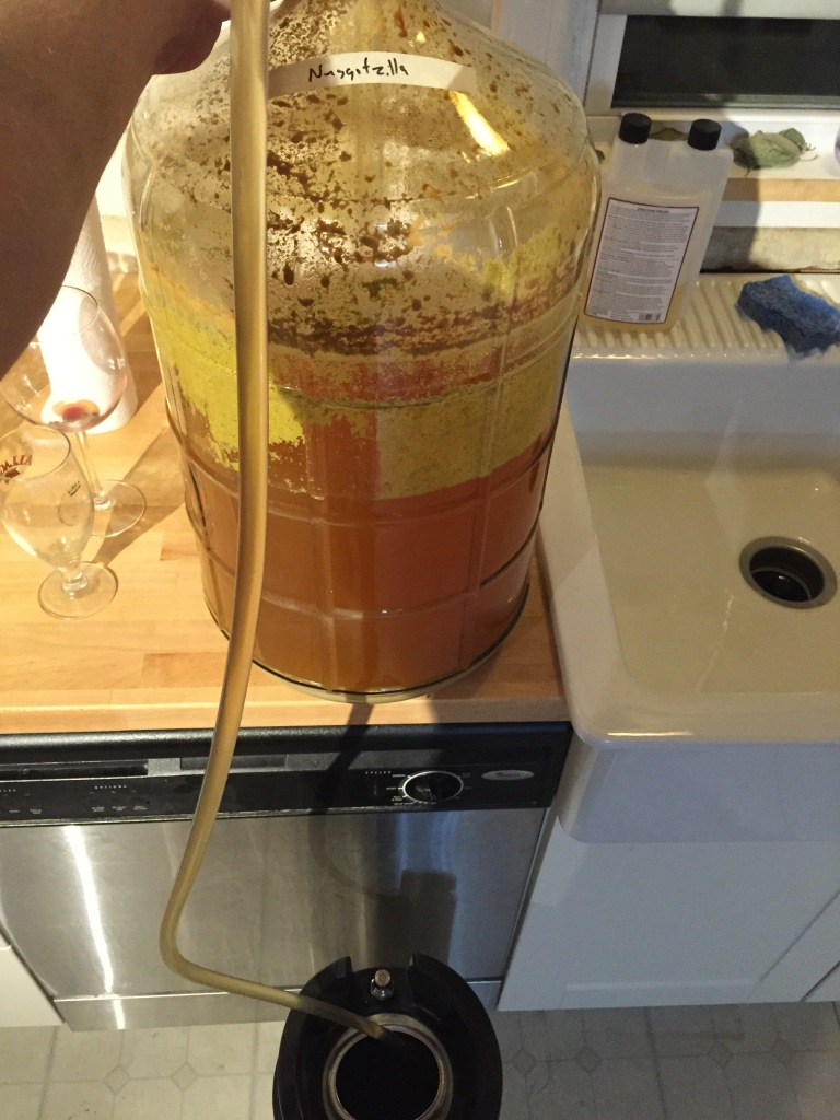 Transfer into keg for second dry hopping